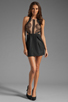Image 2 of Three Floor Night Cat Dress in Black/Nude