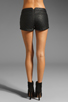 Image 3 of Three Floor Dark Horse Faux Leather Quilted Hot Pants in Black