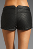 Image 6 of Three Floor Dark Horse Faux Leather Quilted Hot Pants in Black