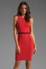 Image 1 of Thatcher Trace Sleeveless Dress in Punch