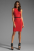 Image 2 of Thatcher Trace Sleeveless Dress in Punch