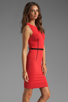Image 3 of Thatcher Trace Sleeveless Dress in Punch