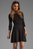 Image 1 of Theory Gleam Annarey Silk/Cotton Blend Dress in Black
