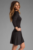 Image 3 of Theory Gleam Annarey Silk/Cotton Blend Dress in Black