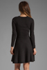 Image 4 of Theory Gleam Annarey Silk/Cotton Blend Dress in Black