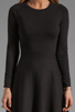 Image 5 of Theory Gleam Annarey Silk/Cotton Blend Dress in Black