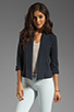 Image 1 of Theory Ode Ashbey B Jersey Blazer in Navy