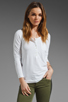 Image 1 of Theory Encase Brioan Top in White