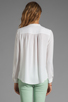 Image 2 of Theory Saleya Latavia Silk Crepe Blouse in White