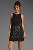Image 1 of Tibi Pai Cut Out Sleeveless Dress in Black