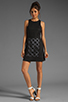 Image 2 of Tibi Pai Cut Out Sleeveless Dress in Black