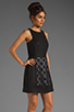 Image 3 of Tibi Pai Cut Out Sleeveless Dress in Black