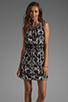 Image 1 of Tibi Kaleidoscope Easy Dress in Black Multi