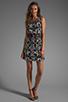 Image 2 of Tibi Kaleidoscope Easy Dress in Black Multi