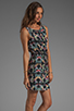 Image 3 of Tibi Kaleidoscope Easy Dress in Black Multi