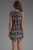 Image 4 of Tibi Kaleidoscope Easy Dress in Black Multi