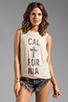 Image 1 of The Laundry Room Cal+fornia Lace Thrasher Muscle Tee in Nude
