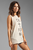 Image 2 of The Laundry Room Cal+fornia Lace Thrasher Muscle Tee in Nude