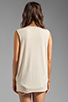 Image 3 of The Laundry Room Cal+fornia Lace Thrasher Muscle Tee in Nude