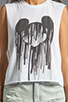 Image 4 of The Laundry Room Mickey Drip Crop Muscle Tee in White