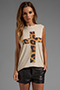 Image 1 of The Laundry Room Praise Cheetah Muscle Tee in Nude