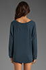 Image 3 of Tylie Double Face Off The Shoulder Raglan Sweater in Danish Blue