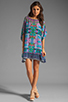 Image 2 of Tolani Emily Dress in Purple Ikat