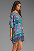 Image 3 of Tolani Emily Dress in Purple Ikat