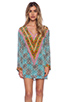 Image 1 of Tolani Katrina Hoodie Dress in Cylinders