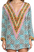 Image 5 of Tolani Katrina Hoodie Dress in Cylinders