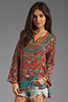 Image 1 of Tolani Stephanie Blouse in Red Floral