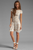 Image 2 of Torn by Ronny Kobo Patricia Dove Dress in White/Nude