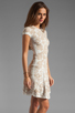 Image 3 of Torn by Ronny Kobo Patricia Dove Dress in White/Nude