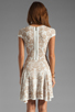 Image 4 of Torn by Ronny Kobo Patricia Dove Dress in White/Nude