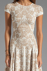 Image 5 of Torn by Ronny Kobo Patricia Dove Dress in White/Nude