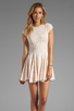 Image 1 of Torn by Ronny Kobo Cristal Lace Dress in Pink
