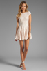 Image 2 of Torn by Ronny Kobo Cristal Lace Dress in Pink