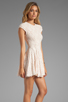 Image 3 of Torn by Ronny Kobo Cristal Lace Dress in Pink