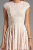 Image 5 of Torn by Ronny Kobo Cristal Lace Dress in Pink