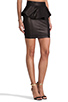 Image 2 of Torn by Ronny Kobo Gigi Leather Skirt in Black