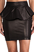 Image 4 of Torn by Ronny Kobo Gigi Leather Skirt in Black