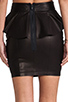 Image 6 of Torn by Ronny Kobo Gigi Leather Skirt in Black