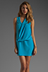 Image 1 of Tracy Reese Soft Solids Surplice Shift Dress in Vivid Blue