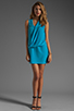 Image 2 of Tracy Reese Soft Solids Surplice Shift Dress in Vivid Blue