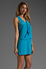 Image 3 of Tracy Reese Soft Solids Surplice Shift Dress in Vivid Blue