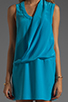 Image 5 of Tracy Reese Soft Solids Surplice Shift Dress in Vivid Blue