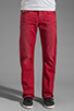 Image 1 of True Religion Ricky Straight Leg in Red