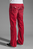Image 3 of True Religion Ricky Straight Leg in Red