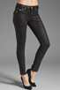 Image 1 of True Religion Serena Glitter Coated Skinny in Black