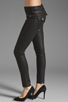Image 2 of True Religion Serena Glitter Coated Skinny in Black